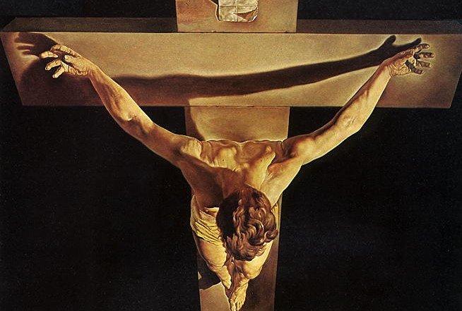 Resultado de imagen para cristo en la cruz dali